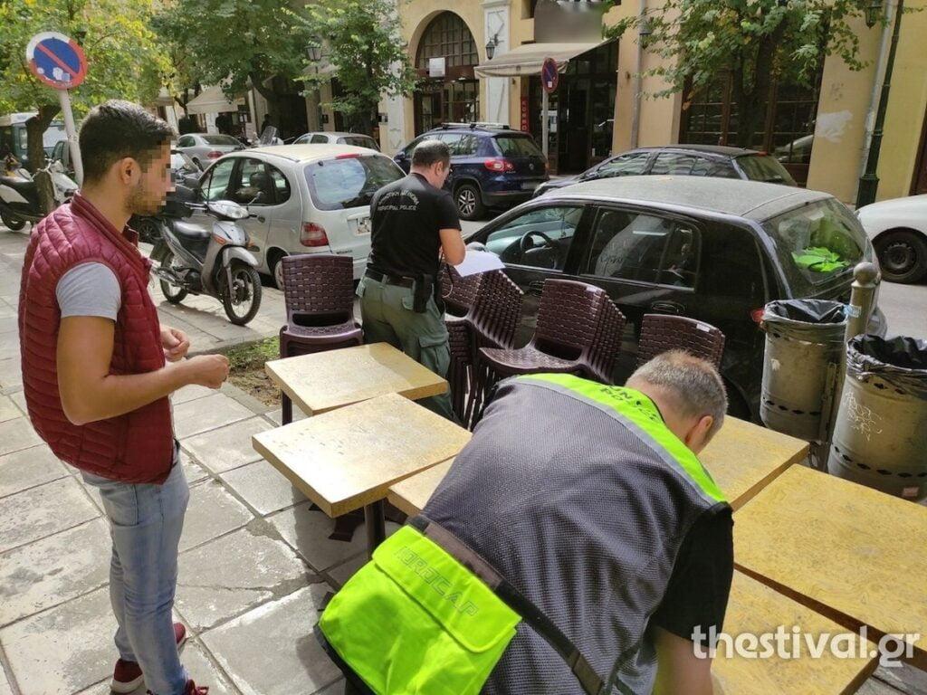 """""""Σκούπα"""" της Δημοτικής Αστυνομίας για τραπεζοκαθίσματα στο κέντρο της Θεσσαλονίκης (φωτο), φωτογραφία-3"""