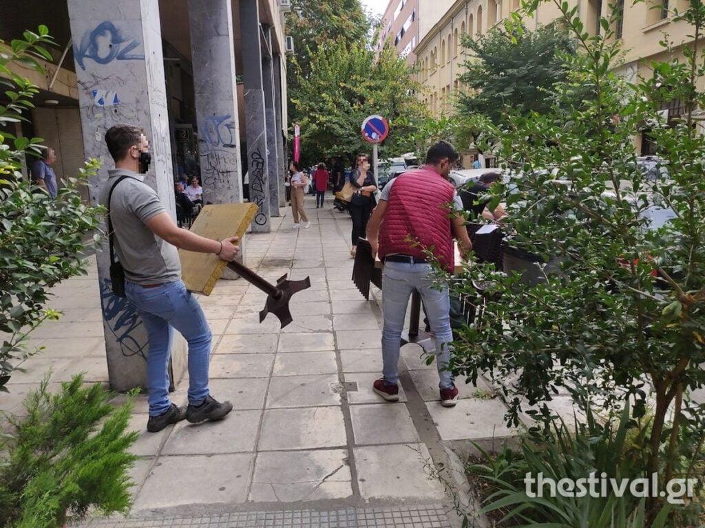 """""""Σκούπα"""" της Δημοτικής Αστυνομίας για τραπεζοκαθίσματα στο κέντρο της Θεσσαλονίκης (φωτο), φωτογραφία-4"""