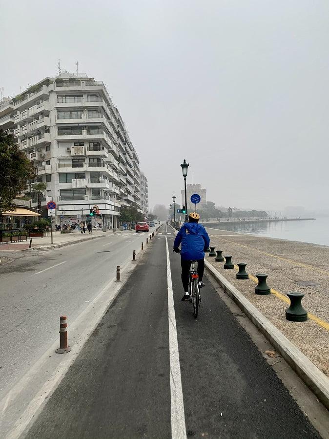 Ποδηλατάδα Ζέρβα στο κέντρο της Θεσσαλονίκης: Το ζήτημα είναι να εμβολιαστούμε όλοι, φωτογραφία-1