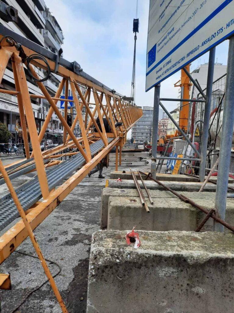 """Θεσσαλονίκη: Απομακρύνεται ο γερανός από το εργοτάξιο στον σταθμό """"Αγία Σοφία"""" (φωτο & video), φωτογραφία-3"""