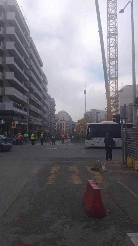 """Θεσσαλονίκη: Απομακρύνεται ο γερανός από το εργοτάξιο στον σταθμό """"Αγία Σοφία"""" (φωτο & video), φωτογραφία-1"""