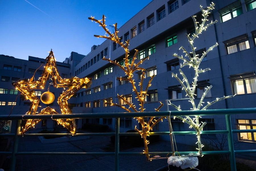"""Θεσσαλονίκη: Εντυπωσιακός ο χριστουγεννιάτικος διάκοσμος στο """"Παπαγεωργίου"""" – Δωρεές ελάτων και στολιδιών (φωτο), φωτογραφία-4"""
