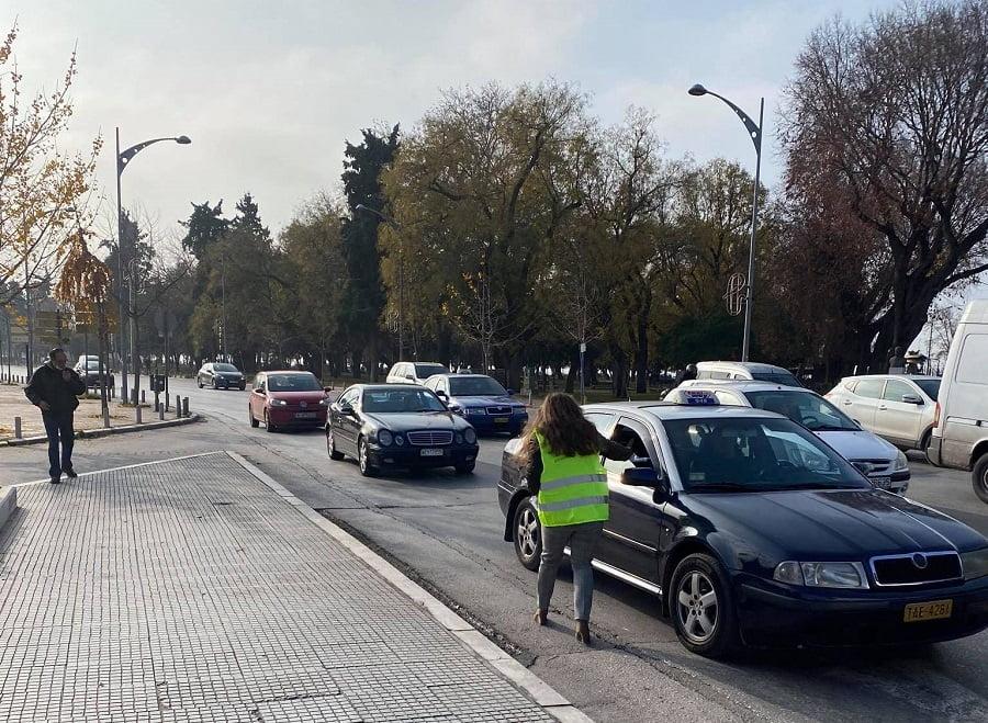 Θεσσαλονίκη: Δωρεάν μάσκες και αντισηπτικά σε οδηγούς στο κέντρο της πόλης, φωτογραφία-1