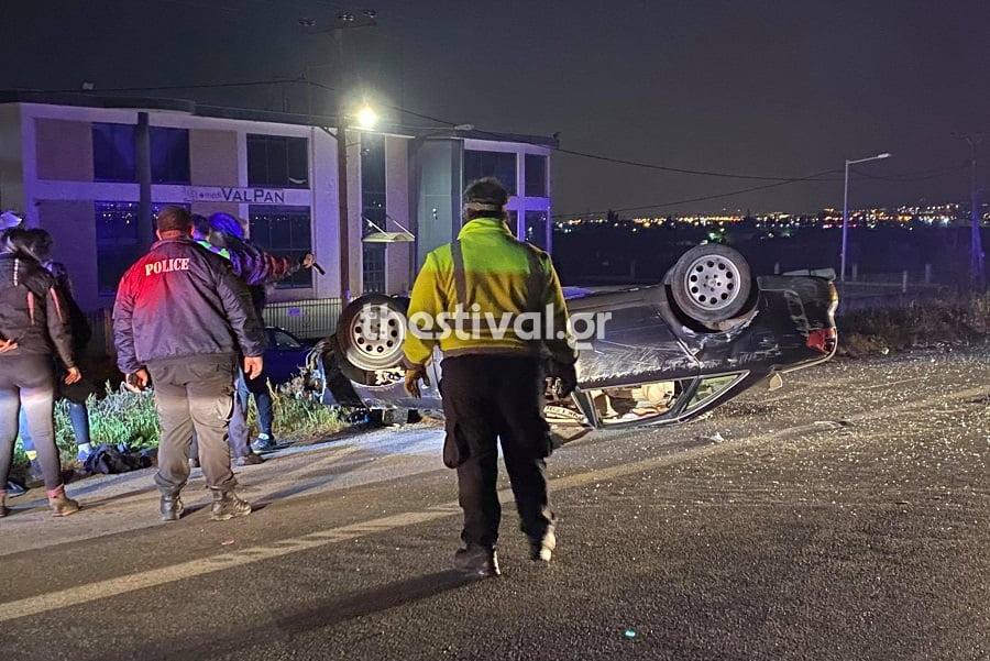 Θεσσαλονίκη: Σοβαρό τροχαίο - Στο νοσοκομείο 24χρονος (pics, vid)