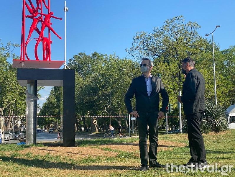 """Δείτε το γλυπτό """"METEORON"""" που τοποθετήθηκε απέναντι από το δημαρχείο Θεσσαλονίκης (φωτο & video), φωτογραφία-1"""